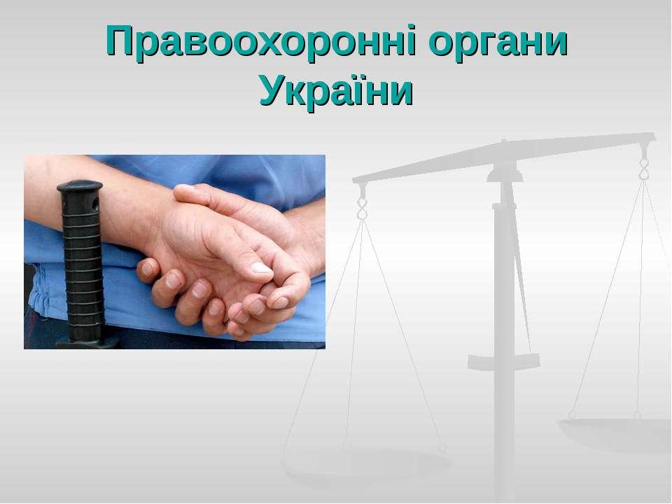 Правоохоронні органи України
