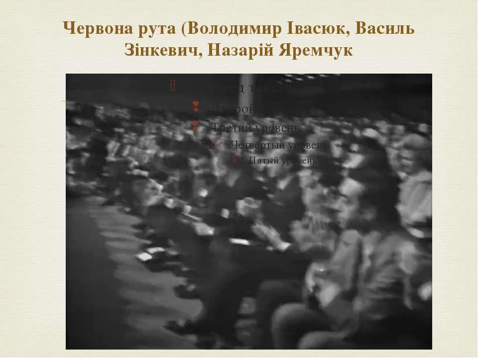Червона рута (Володимир Івасюк, Василь Зінкевич, Назарій Яремчук