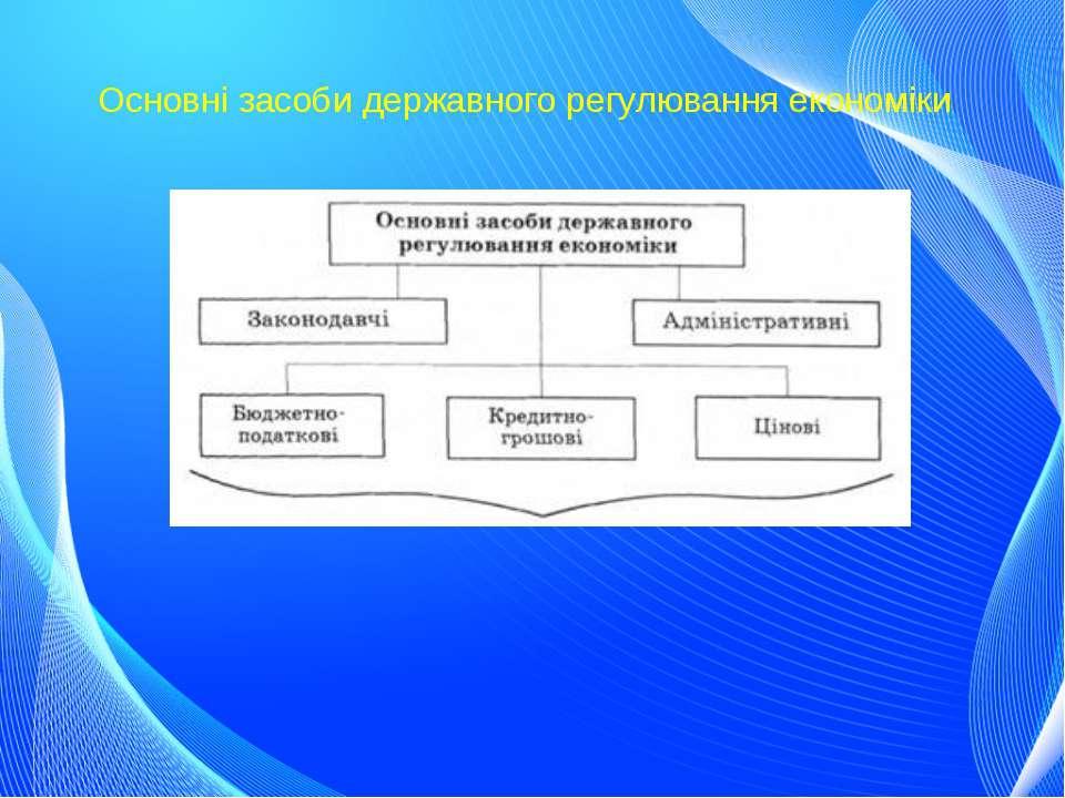 Основні засоби державного регулювання економіки