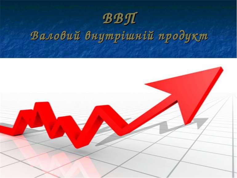 ВВП Валовий внутрішній продукт