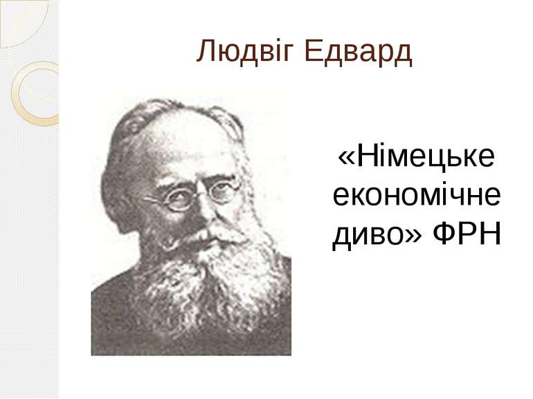 Людвіг Едвард «Німецьке економічне диво» ФРН