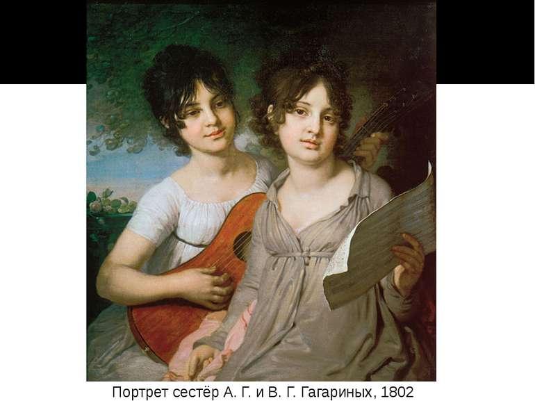 Портрет сестёр А. Г. и В. Г. Гагариных, 1802