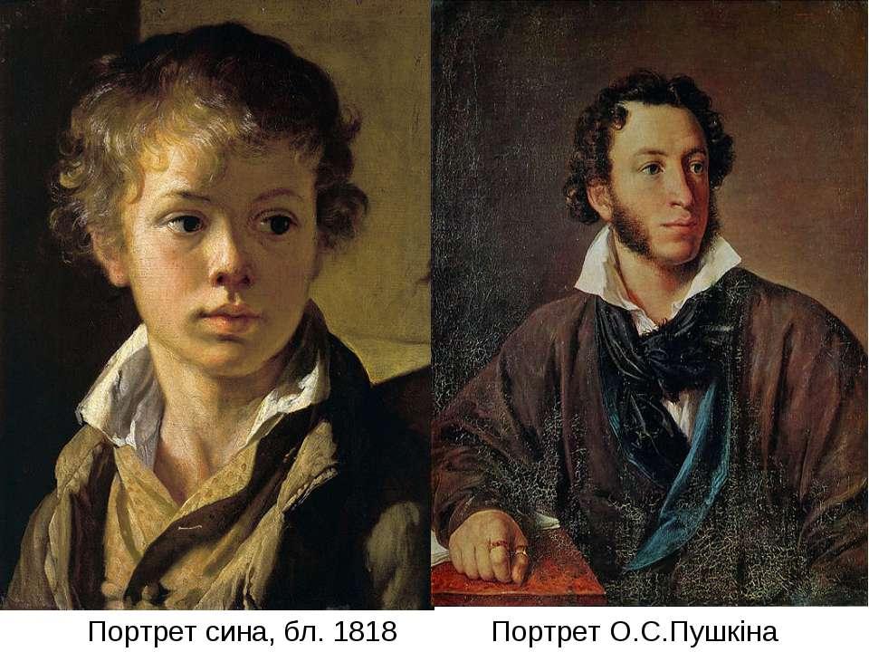 Портрет сина, бл. 1818 Портрет О.С.Пушкіна (1827)