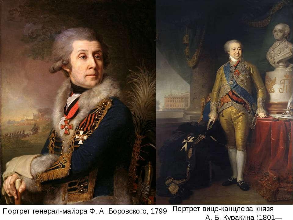 Портрет генерал-майора Ф. А. Боровского, 1799 Портрет вице-канцлера князя А. ...