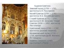 Будинки Ермітажу Зимовий палац (1754 — 1762, архітектор Б.Ф. Расстреллі) Мали...