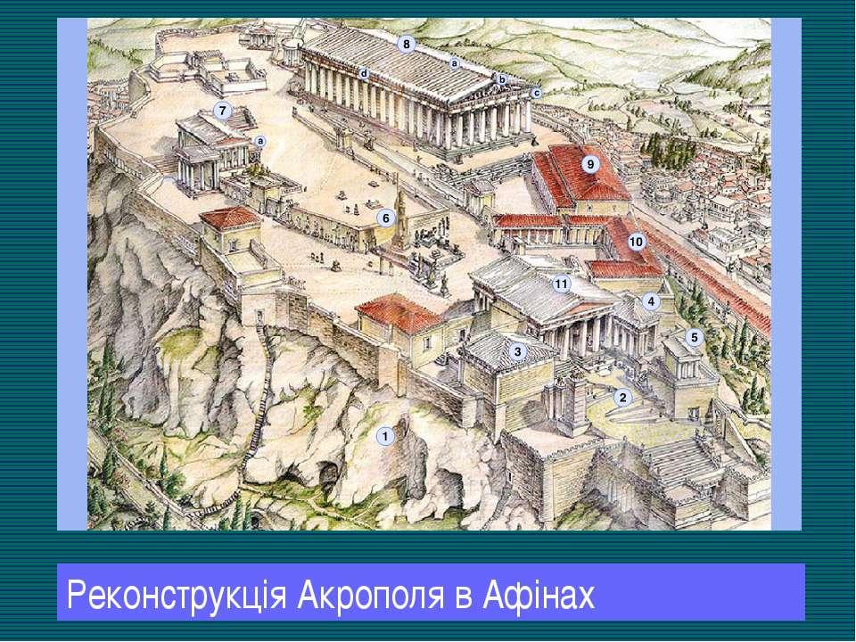 Реконструкція Акрополя в Афінах