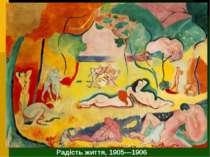 Радість життя, 1905—1906