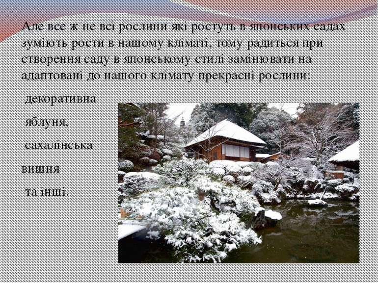 Але все ж не всі рослини які ростуть в японських садах зуміють рости в нашому...