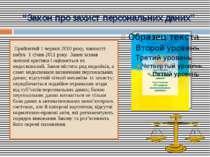 """""""Закон про захист персональних даних"""" Прийнятий 1 червня 2010 року, чинності ..."""