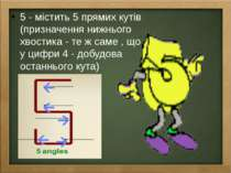 5 - містить 5 прямих кутів (призначення нижнього хвостика - те ж саме , що у ...