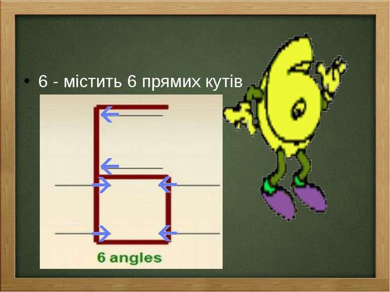 6 - містить 6 прямих кутів