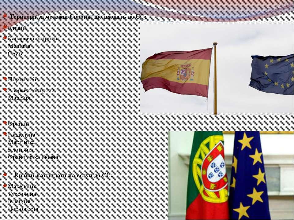Території за межами Європи, що входять до ЄС: Іспанії: Канарські острови Мел...