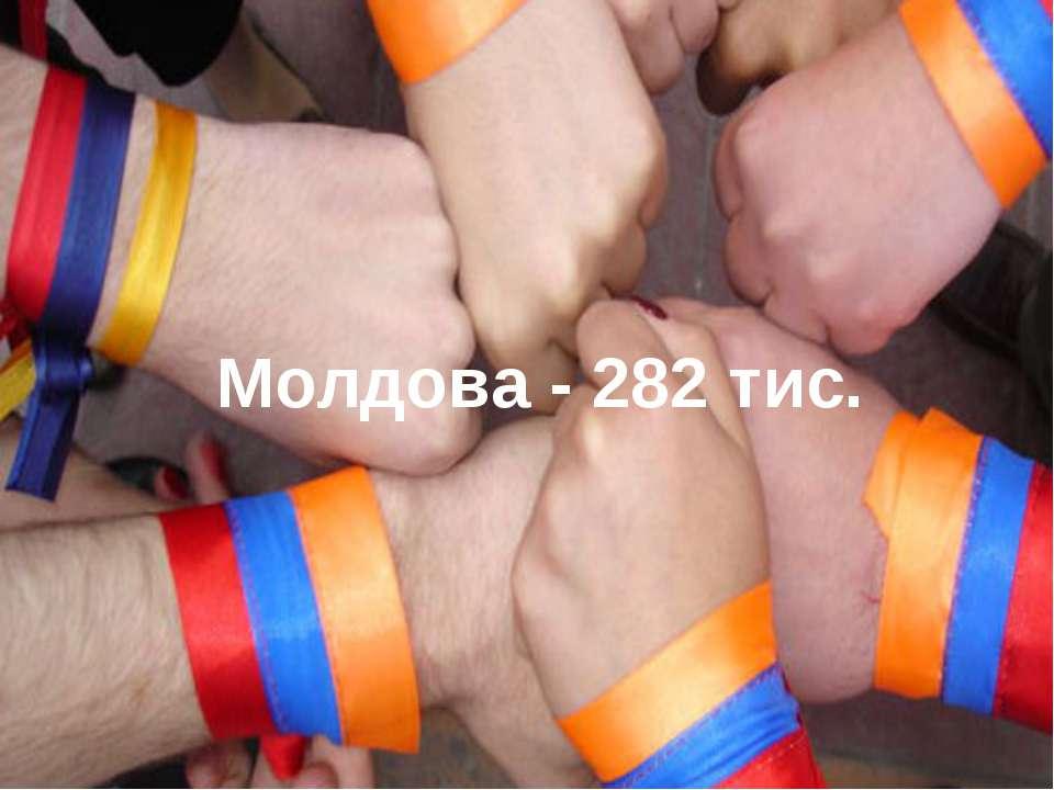 Молдова - 282 тис.