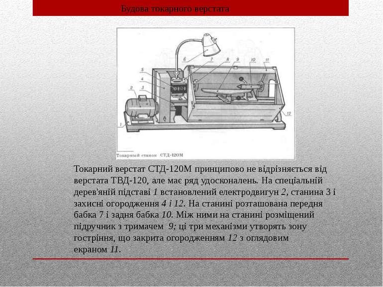 Токарний верстат СТД-120М принципово не відрізняється від верстата ТВД-120, а...