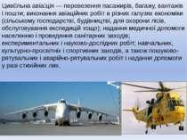 Циві льна авіа ція — перевезення пасажирів, багажу, вантажів і пошти; виконан...