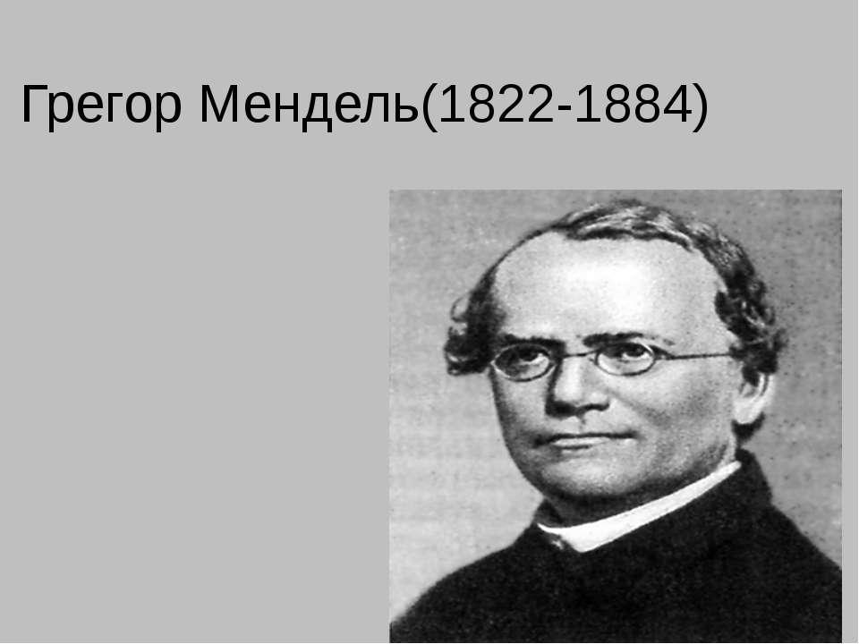 Грегор Мендель(1822-1884)