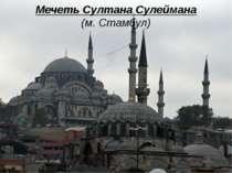 Мечеть Султана Сулеймана (м. Стамбул)
