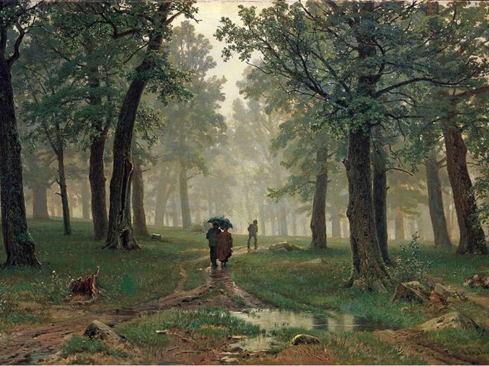 «Дощ в дубовому лісі» 1891