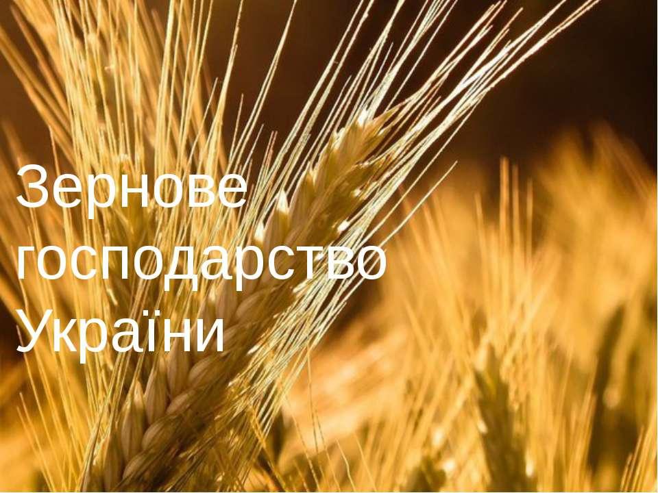 Зернове господарство України