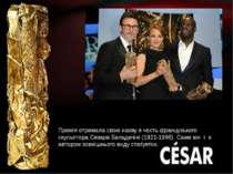 Премія отримала свою назву в честь французького скульптора Сезара Бальдачіні ...