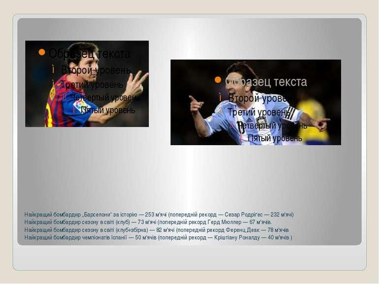 """Найкращий бомбардир""""Барселони""""за історію— 253 м'ячі (попередній рекорд—С..."""