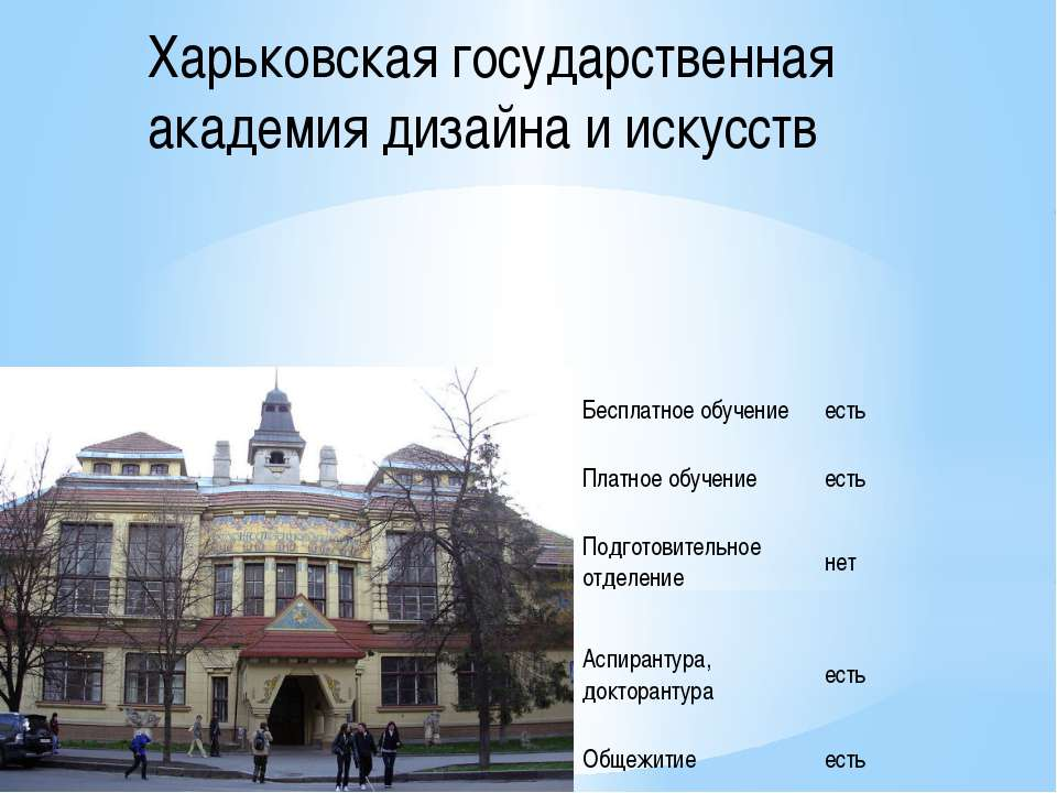Харьковская государственная академия дизайна и искусств Бесплатное обучение е...