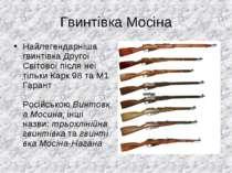Гвинтівка Мосіна Найлегендарніша гвинтівка Другої Світової після неї тільки К...