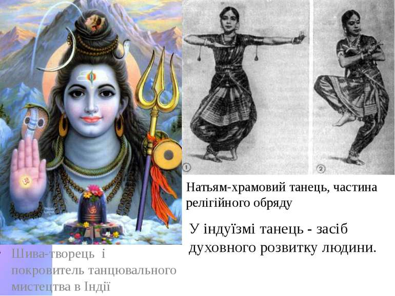 Шива-творець і покровитель танцювального мистецтва в Індії Натьям-храмовий та...