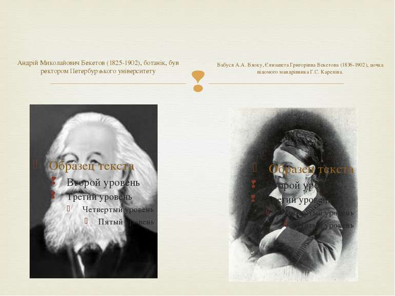 Андрій Миколайович Бекетов (1825-1902), ботанік, був ректором Петербурзького ...