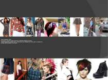 Punk rock: - prints: photos of musical artists, hutch; -clothing: shirt and t...