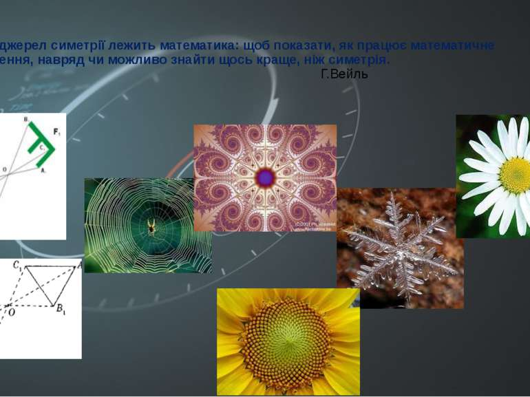 Біля джерел симетрії лежить математика: щоб показати, як працює математичне м...