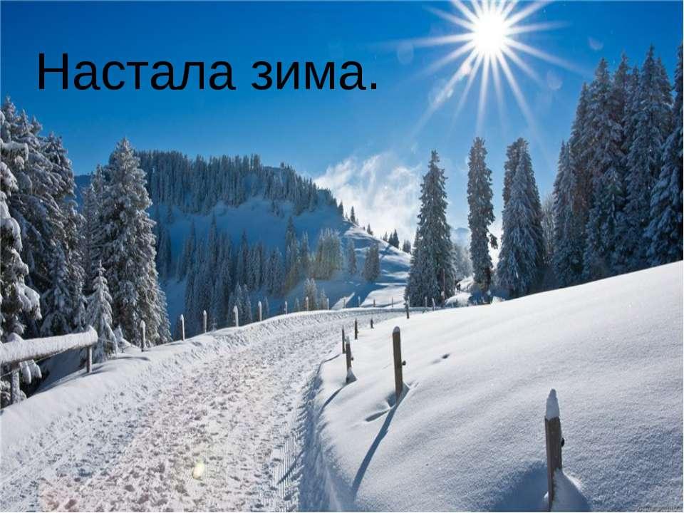 Настала зима.