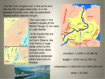 It is the 11th longest river in the world and has the 9th largest watershed. ...
