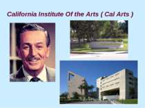 California Institute Of the Arts ( Cal Arts )