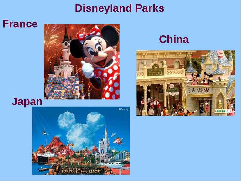 Disneyland Parks France China Japan