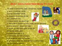 WHAT DOES CHRISTMAS MEAN TO YOU? _ to make a Christmas cake, Christmas cracke...