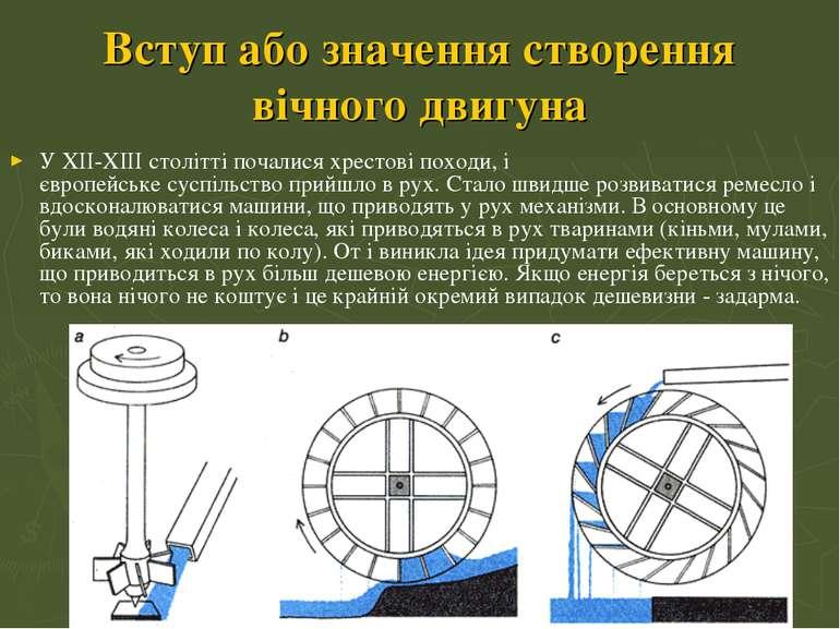 Вступ або значення створення вічного двигуна У XII-XIII столітті почалисяхре...