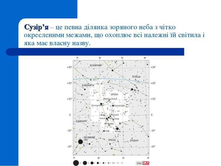 Сузір'я – це певна ділянка зоряного неба з чітко окресленими межами, що охопл...