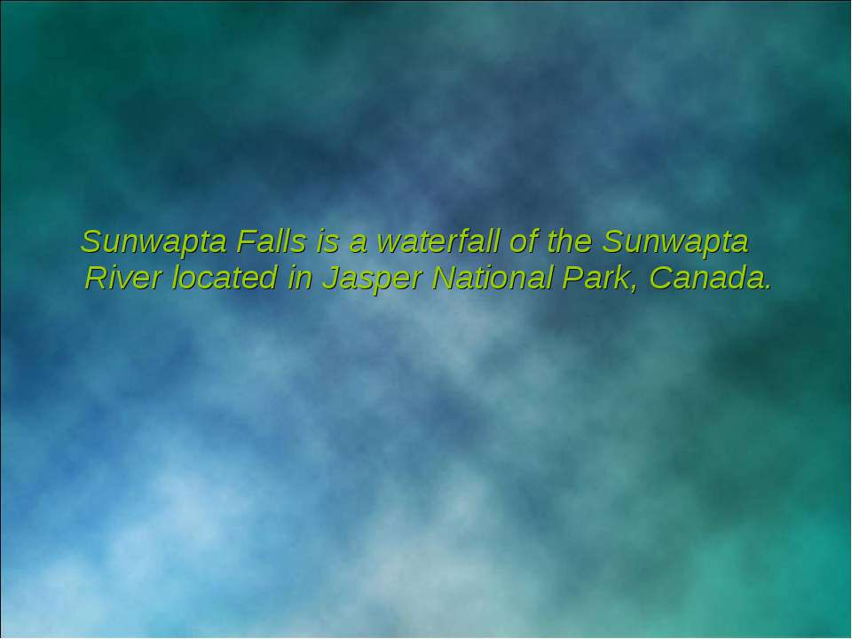 Sunwapta Falls is a waterfall of the Sunwapta River located in Jasper Nationa...