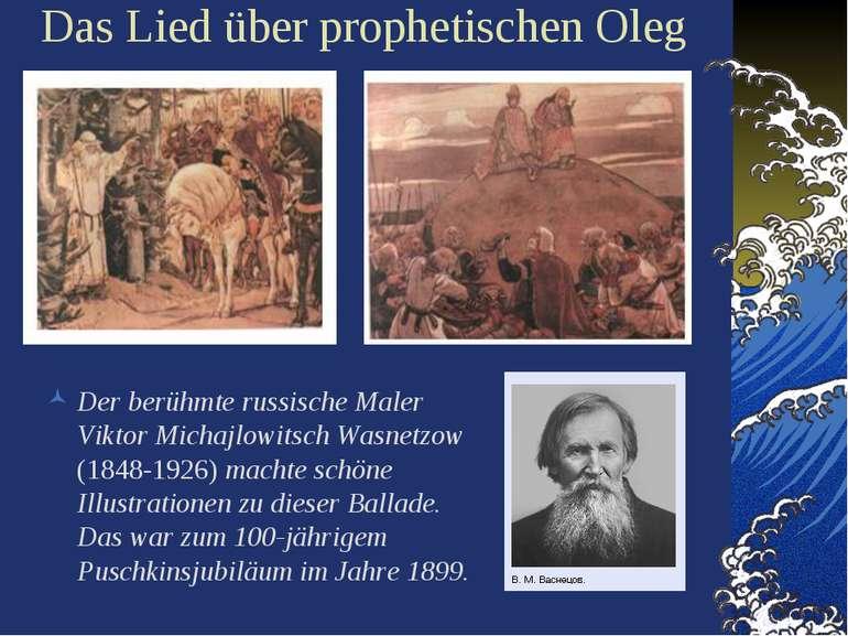 Das Lied über prophetischen Oleg Der berühmte russische Maler Viktor Michajlo...