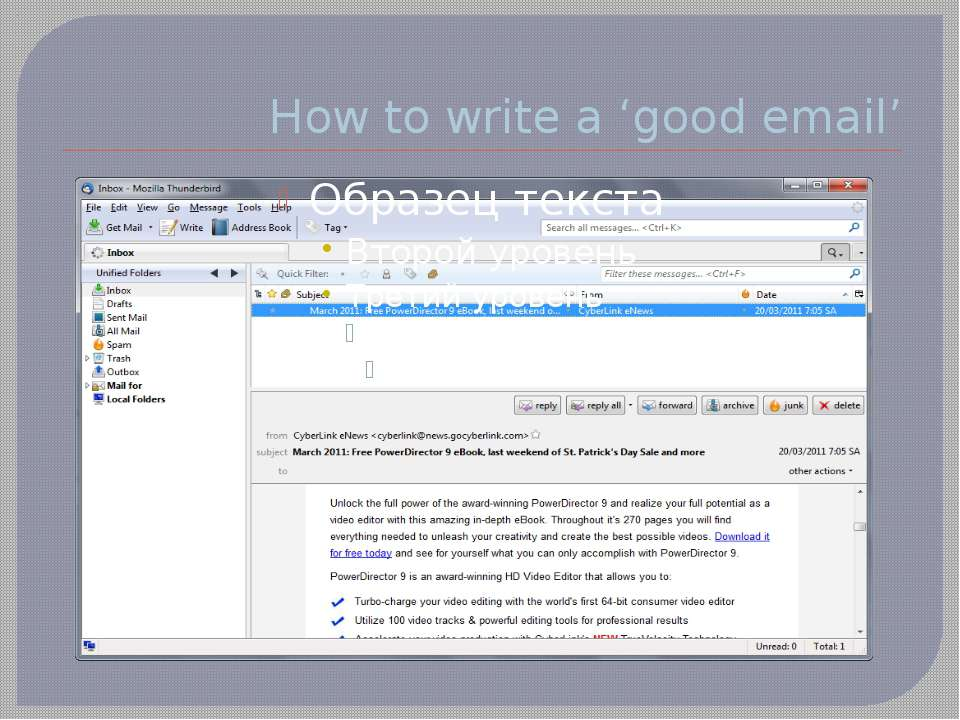 How to write a 'good email'