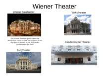 Wiener Theater (Die Wiener Staatoper gehört neben der Metropolitan Opera in N...