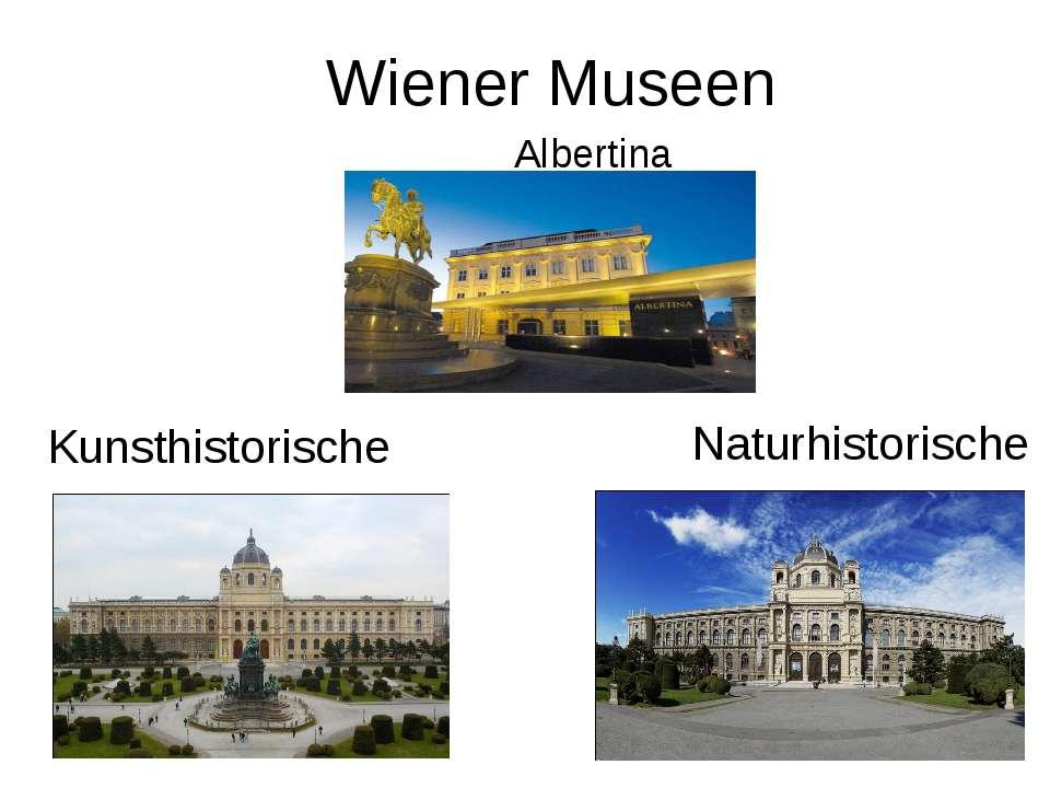 Wiener Museen Albertina Kunsthistorische Naturhistorische