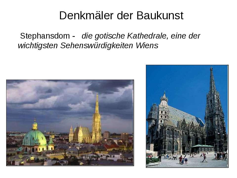 Denkmäler der Baukunst Stephansdom - die gotische Kathedrale, eine der wichti...