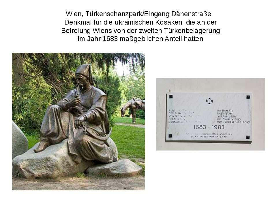 Wien, Türkenschanzpark/Eingang Dänenstraße: Denkmalfür die ukrainischenKos...