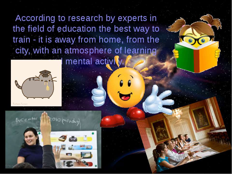 According to research by experts in the field of education the best way to tr...
