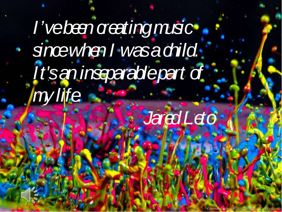 I've been creating music since when I was a child. It's an inseparable part o...