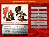 Доба «воєнного комунізму» Промисловість Націоналізація Загальна трудова повин...