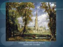 Salisbury Cathedral from the Bishop's Garden John Constable