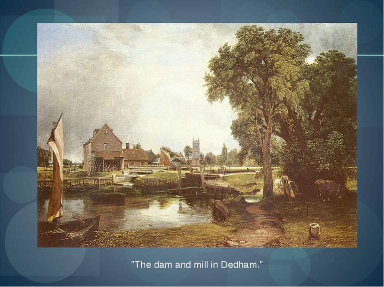 """The dam and mill in Dedham."""
